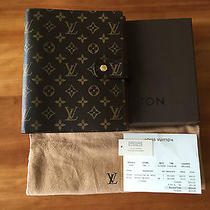 Louis Vuitton 2008 Large Ring Monogram Gm Agenda Cover  Day Planner W/ Receipt Photo