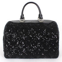 Louis Vuitton 4380 Nwt Black Sequin Monogram Sunshine Express Speedy Bag Photo
