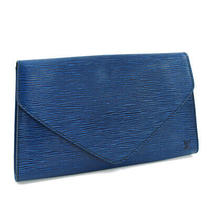 Louis Vuitton Art Deco Clutch Bag M52635 Epi Leather Toledo Blue Unisex Photo