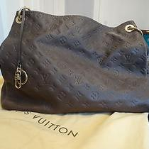 Louis Vuitton Artsy Monogram Empreinte Mm M93447 Ombre Leather Handbag Like New Photo
