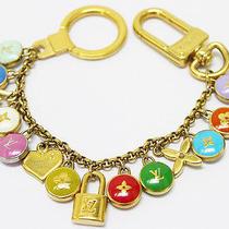 Louis Vuitton Auth M66172 Bag Charm Key Ring Multi Color Metal Ladies Good 0210 Photo