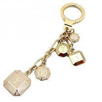 Louis Vuitton Auth M66461 Bag Charm Key Ring Gold Beige Gorgeous Nos Mint 0217 Photo