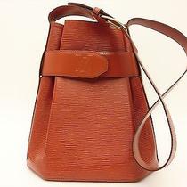Louis Vuitton Authentic Epi Leather Brown Sac d'epaule Shoulder Bag Sac Depaule Photo