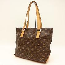 Louis Vuitton Authentic Monogram Cabas Piano Tote Shoulder Shopping Shoppers Bag Photo