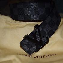 Louis Vuitton Belt Graphite Photo