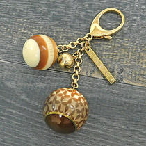Louis Vuitton Bijoux Sac Mini Lin Brown Key Ring Bag Charm 1641be Rise-On Photo