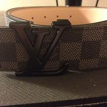 Louis Vuitton Black Belt Graphite Damier Leather Photo