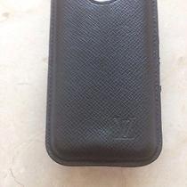Louis Vuitton Black Leather Iphone 4 Case Photo