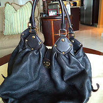 Louis Vuitton Black  Mahina Hobo Large Leather Bag 100% Authentic Photo