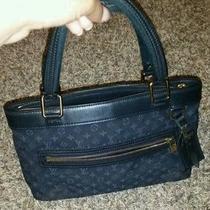 Louis Vuitton Blue Lv Monogram Shoulder Bag Photo