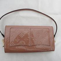 Louis Vuitton Blush Patent Leather Baguette Shoulder Bag Photo