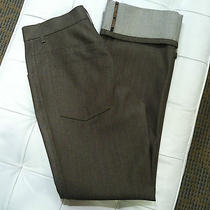 Louis Vuitton Brown Jeans With Large Cuff  Size 38 Photo