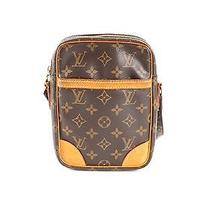 Louis Vuitton Brown Leather Lv Monogram Bag Photo