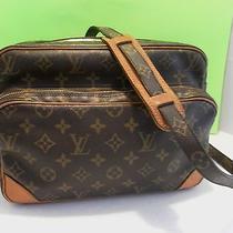 Louis Vuitton Brown Monogram Canvas Reporter Bag Nile Messenger Vintage Photo