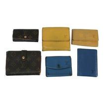 Louis Vuitton Bulk Set of 6 Wallet Monogram Epi Blue Brown Yellow Leather Wome Photo