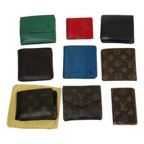 Louis Vuitton Bulk Set of 9 Wallet Monogram Brown Epi Blue Red Green Black Lea Photo