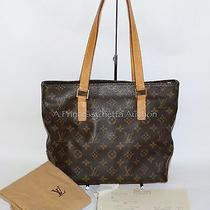 Louis Vuitton Cabas Piano Lv Monogram Hand Bag Shoulder Tote Purse Orig Receipt Photo