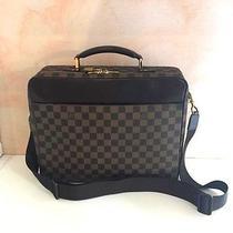 Louis Vuitton Canvas   Leather Damier Computer Case / Briefcase Bag Photo
