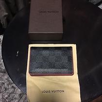 Louis Vuitton Daimer Graphite & Red Pocket Organiser Photo
