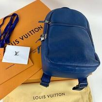 Louis Vuitton Damier Infini Michael Nm N41353 Backpack Blue Leather W/ Receipt Photo