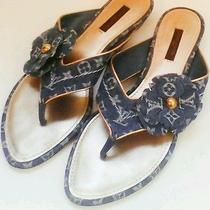 Louis Vuitton Denim Sandals Photo