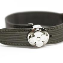 Louis Vuitton Gray Epi Leather Millenium Bracelet Photo