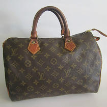 Louis Vuitton Handbag Monogram Speedy 30 842sa Photo