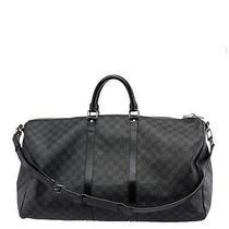 Louis Vuitton Keepall 55 Bandouliere Damier Graphite Duffel Bag Photo