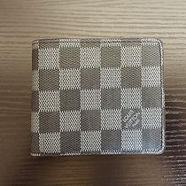 Louis Vuitton Leather Wallet Damier Graphite Canvas With Box Photo