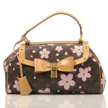 Louis Vuitton Limited Edition Cherry Blossom Monogram Sac Retro Handbag  Photo