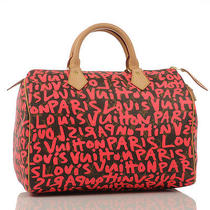 Louis Vuitton Limited Edition Stephen Sprouse Pink Graffiti Speedy 30  Photo