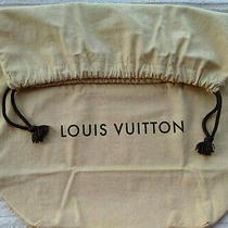 Louis Vuitton Logo One Large Drawstring Closure Dust Bag 20