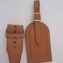 Louis Vuitton Luggage Keepall Name Tag Vachetta Leather Large Photo