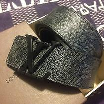 Louis Vuitton Lv Initials Damier Graphite Belt Photo