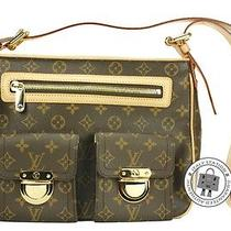 Louis Vuitton M40045 Monogram Hudson Gm Brown Canvas Shoulder Bag Ghw Mprs Photo