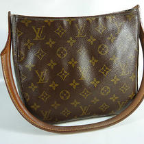 Louis Vuitton Monogram Canvas Leather Looping Mm Handbag Bag Shoulder Bag Hobo Photo