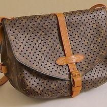 Louis Vuitton Monogram Flore Saumur Perforated Bag Photo