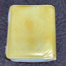 Louis Vuitton Monogram Green Blue Vernis Leather Zippy Wallet/coin Needs Repair Photo