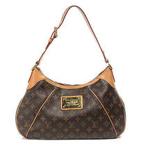 Louis Vuitton Monogram Thames Gm Shoulder Bag Hobo Purse Lv Photo