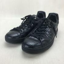 Louis Vuitton Ms0166 6 Blk Leather Size 6 Black Low Cut Sneaker 054 From Japan Photo