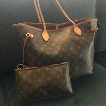 Louis Vuitton Never Full Shoulder Bag Peony Pink Fabric M41178 Authentic-Receipt Photo