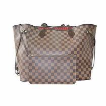 Louis Vuitton Neverfull Gm Damier Ebene Tote Handbag 2015 Model Photo