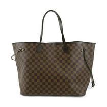 Louis Vuitton Neverfull Gm Shoulder Tote Bag N51106 Damier Brown Used Photo
