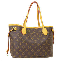 Louis Vuitton Neverfull Pm Hand Tote Bag Mb4038 Purse Monogram M40155 40476 Photo