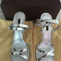 Louis Vuitton 'Nina' Sliver Leather Ankle-Strap Sandals Size 39 Photo