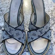 Louis Vuitton Open Toe Mule Ibiza Sandal Wedge Shoes Photo