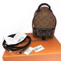 Louis Vuitton Palm Springs Reverse Mini Monogram Backpack With Receipt Photo
