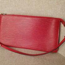 Louis Vuitton Pochette Accessories Pouch Bag Red Epi M52947 Photo