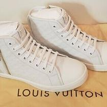 Louis Vuitton Punchy Women's Sneaker Size 38.5 White Embossed  Nib Nwt Photo