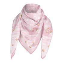 Louis Vuitton Rare New Denim Scarf Bandana Rose Blush Bnib Photo